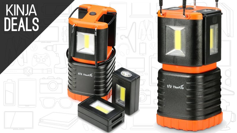Illustration for article titled This $15 Camping Lantern Includes Two Detachable Flashlights