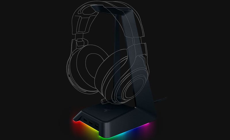 Razer Made An Rgb Headphone Stand Obviously