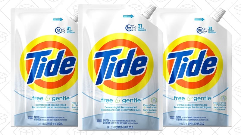 93 Loads Tide Free & Gentle Laundry Detergent | $14 | Amazon | Use Subscribe & Save and $3 coupon
