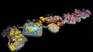 Illustration for article titled Fans Build 14 Feet ofStarCraft IIin LEGO
