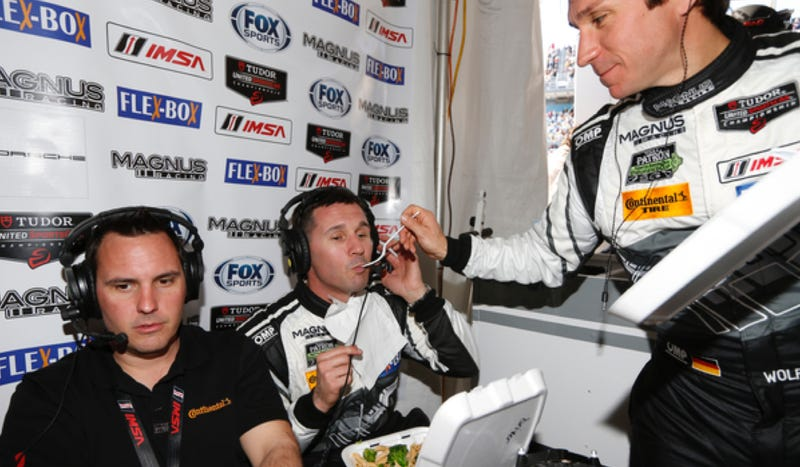 Illustration for article titled Watch The Craziest Team In The Paddock Live-Stream From Their Rolex 24 Pits