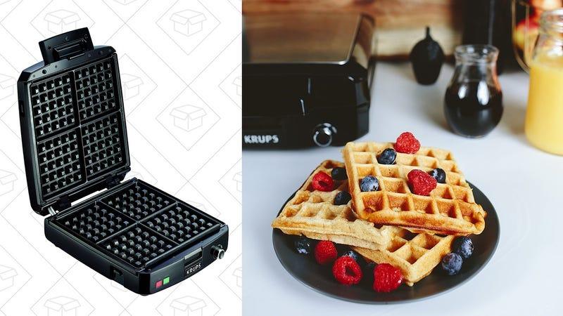 KRUPS Belgian Waffle Maker, $39