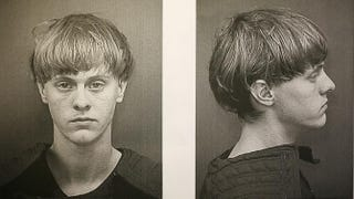 Dylann Storm Roof is seen in his booking photo after being apprehended June 18, 2015, as the main suspect in the mass shooting at Emanuel African Methodist Episcopal Church in which nine people were killed in Charleston, S.C. The 21-year-old is suspected of gunning down the nine people during a prayer meeting at the church, which is one of the nation's oldest black churches. Charleston County Sheriff's Office via Getty Images
