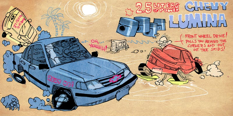 Illustration for article titled Mr. Regular on Why the Chevy Lumina Made 1990s Vacationers Go Crazy