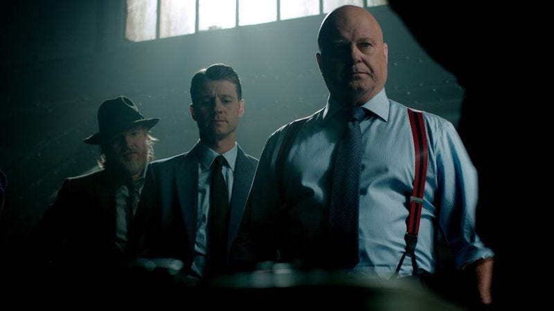 Presumably a shot of Chiklis and his band, whom we're guessing are named the Sassy Puppies