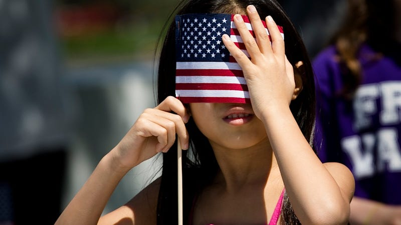 Illustration for article titled This Little Girl Has Clearly Won the Patriotic Sunglasses Contest