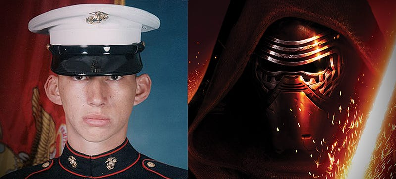 Illustration for article titled The Force Awakens Actor Was A Marine Before Picking Up A Lightsaber And Becoming Kylo Ren