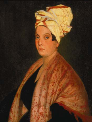 1920 painting of Marie Laveaux by Frank Schneider, based on an 1835 painting (now lost) by George CatlinWikimedia Commons