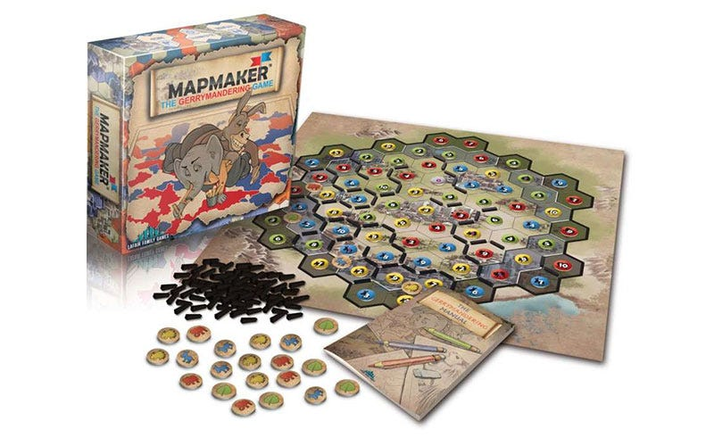 Illustration for article titled Mapmaker, A Board Game About Gerrymandering And How Terrible It Is