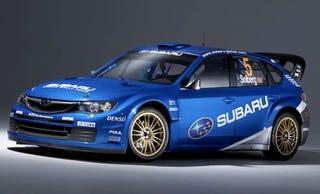 Illustration for article titled New 2008 Subaru Impreza WRC Racer Revealed