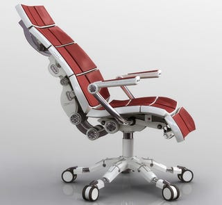 aeron-killing office chair auto calibrates to your butt, back, and