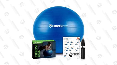 URBNFit Exercise Ball, Black and Blue   $9   Amazon   Promo code RXQFXJLTURBNFit Exercise Ball, Red   $11   Amazon   Promo code RXQFXJLT