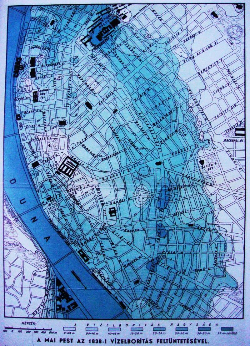 Illustration for article titled A ti utcátokban meddig ért volna az 1838-as nagy pesti árvíz?