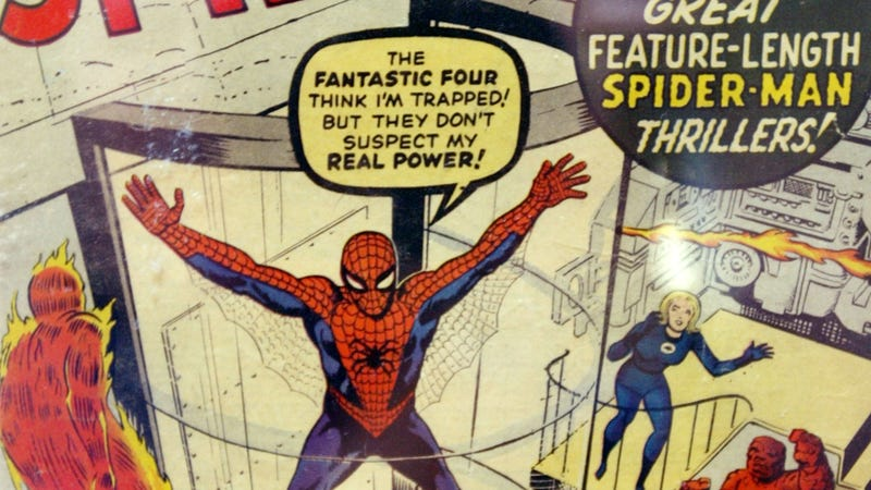Covert art for The Amazing Spider-Man #1, featuring art by Jack Kirby and Steve Ditko