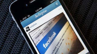 A photo illustration of an Instagram photo of the Facebook app on an iPhoneJustin Sullivan/Getty Images