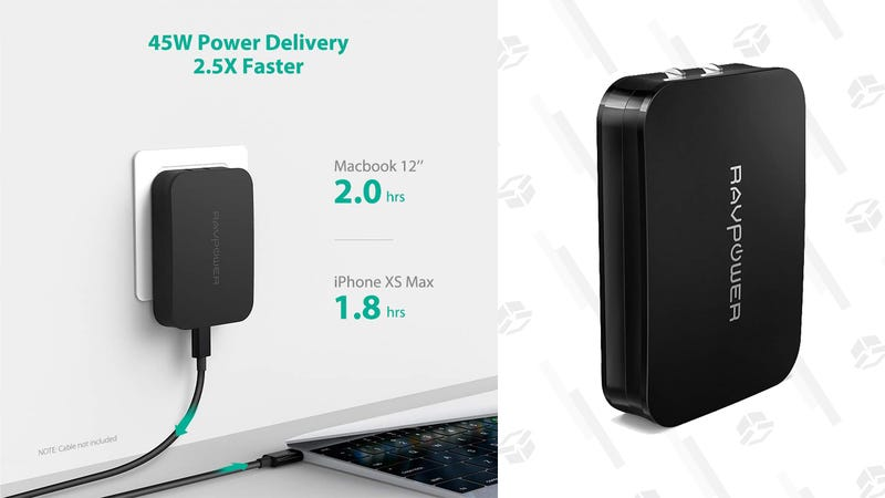 RAVPower 45W USB C PD Charger with GaN Tech | $30 | Amazon | Clip coupon on page