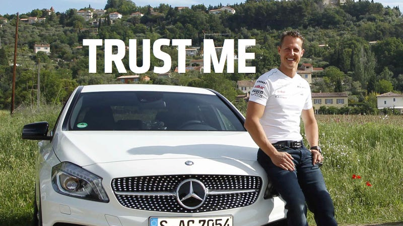 Illustration for article titled Mercedes Customers: Your Life Is In Michael Schumacher's Hands