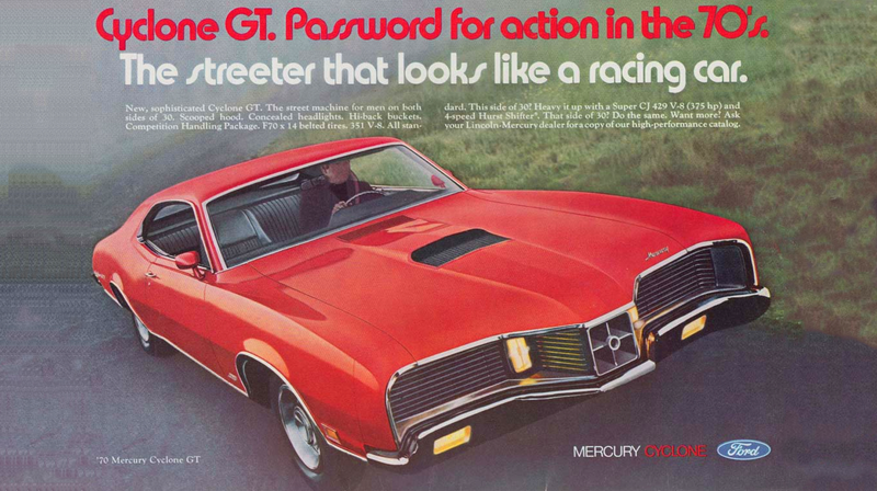 Illustration for article titled Take A Moment To Appreciate The Bonkers Face of the 1970 Mercury Cyclone GT