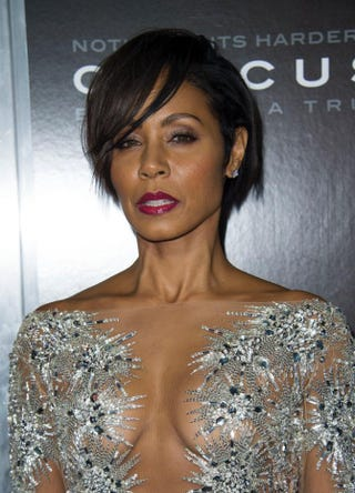 Actress Jada Pinkett Smith attends a screening of Concussion in Westwood, Calif., on Nov. 23, 2015.VALERIE MACON/AFP/Getty Images