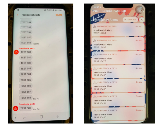 Researchers Send Fake Presidential Alerts to Stadium of