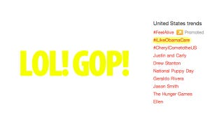 Illustration for article titled How Conservatives Made #iLikeObamaCare The Number One Topic On Twitter (Updated)