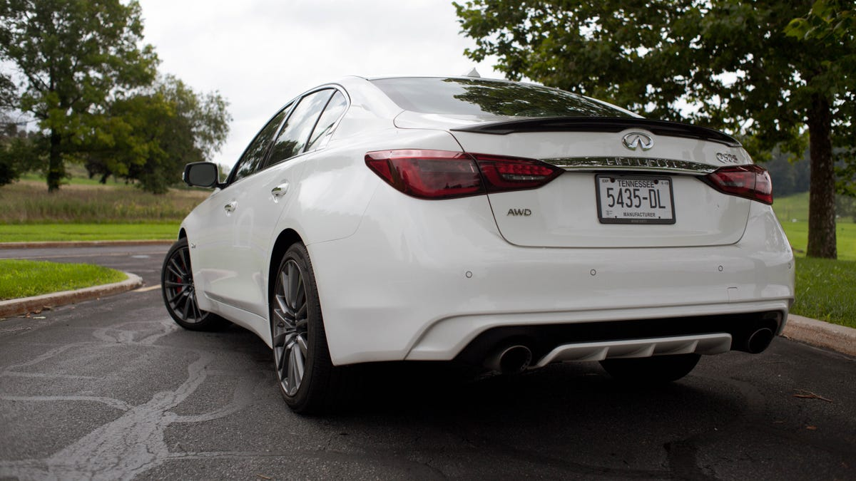 The 400 Hp 2018 Infiniti Q50 Red Sport Awd Is So Close To Being Good G37 Back Bumper It Hurts