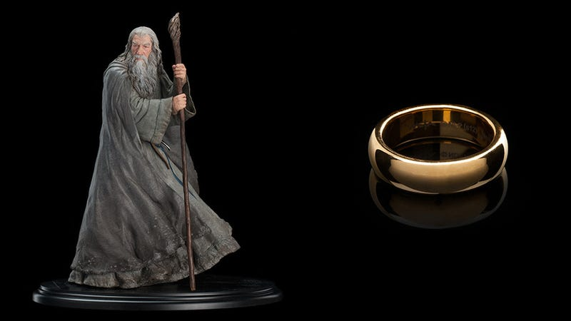 Illustration for article titled Check Out All These Sweet Hobbit Statues, Toys & Props