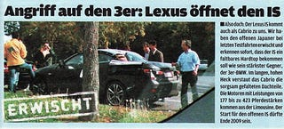 Illustration for article titled Lexus IS Convertible Spied Testing in Germany?