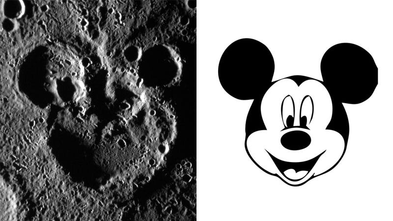 Illustration for article titled Mickey Mouse Spotted On Mercury!