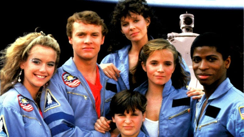 The very young, but very recognizable cast of Space Camp, which was released on June 6, 1986. All Images: MGM