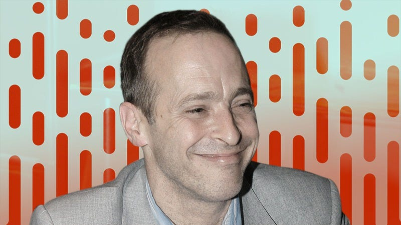 David Sedaris (Photo: Bryan Bedder/Getty Images. Graphic: Nicole Antonuccio.)