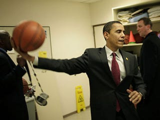 Illustration for article titled Top NBA Ballers Play for Obama