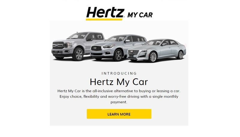 Illustration for article titled Introducing Hertz My Car, yet another subscription service