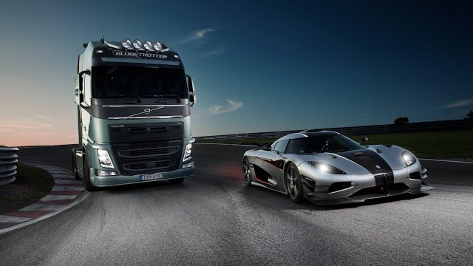 Volvo Trucks Will Race Against A 280 MPH Koenigsegg