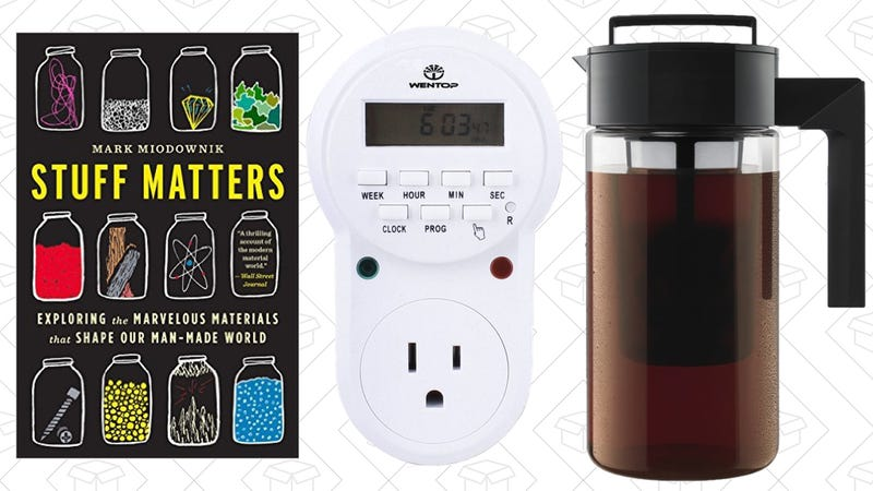 Illustration for article titled Sunday's Best Deals: Takeya Coffee Maker, Science eBooks, Programmable Plugs, and More
