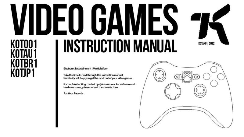Illustration for article titled How To Play Video Games