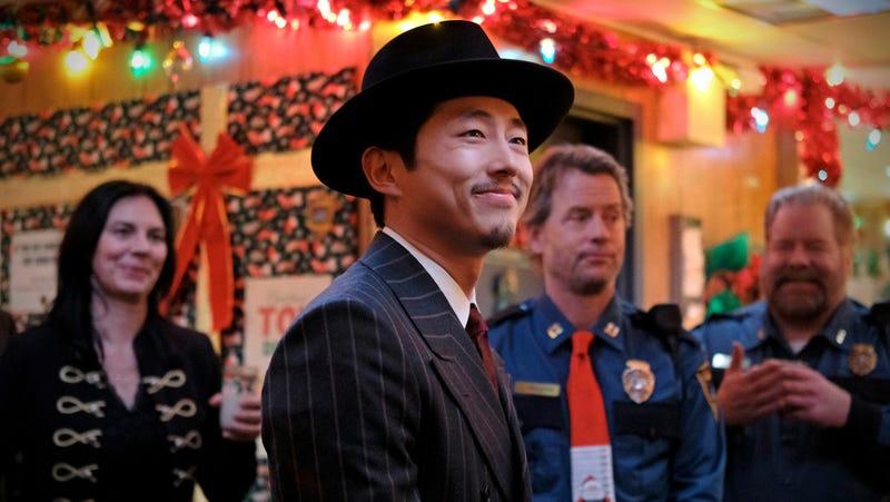 "Steven Yeun in ""The Traveler."""
