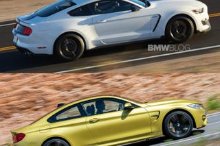 Illustration for article titled Shelby GT350 throws left-hook at BMW M4