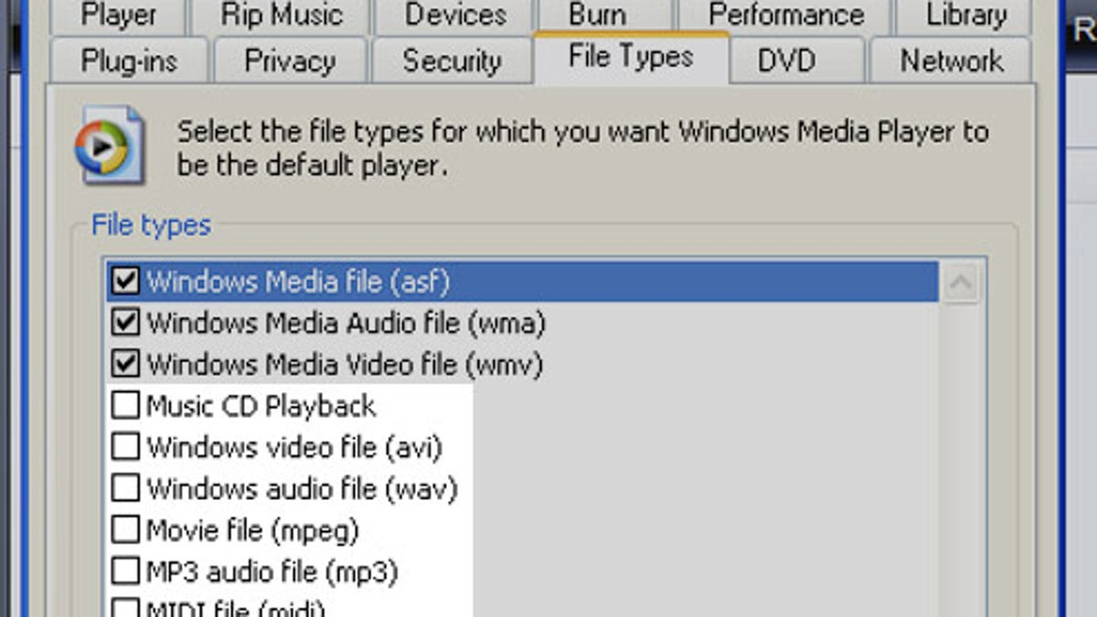 windows media player cannot burn some of the files