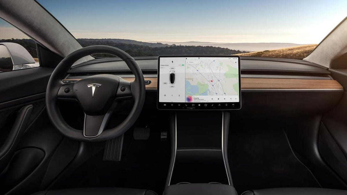 Tesla Model S Refresh With Minimalist Interior And Model 3
