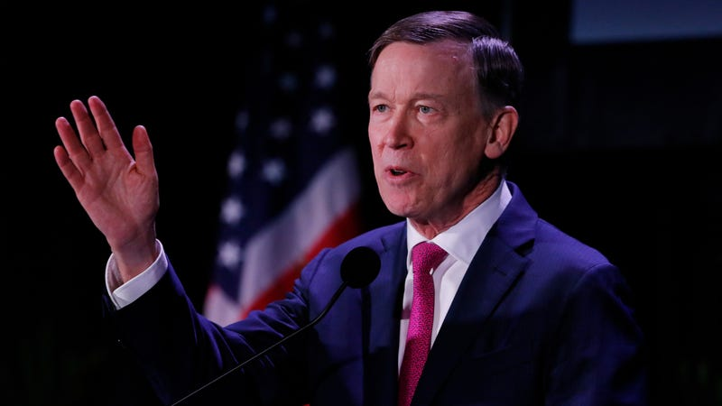 John Hickenlooper speaks at the Democratic presidential candidates NALEO Candidate Forum in June.