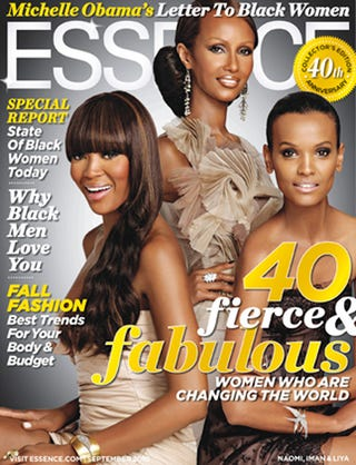 Illustration for article titled Essence Picks A Trio Of Black Supermodels For September Cover