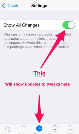 Illustration for article titled Jailbreak Tip: Get updates for tweaks in Cydia