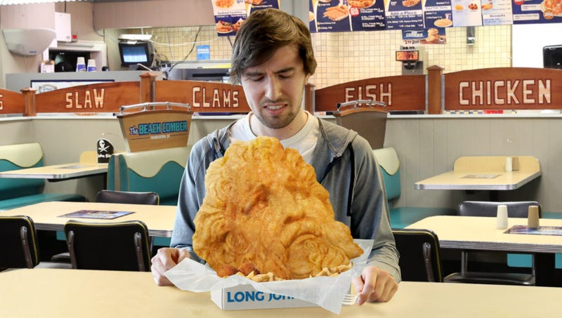 Illustration for article titled Long John Silver's Customer Finds Deep-Fried Poseidon Head In Value Meal