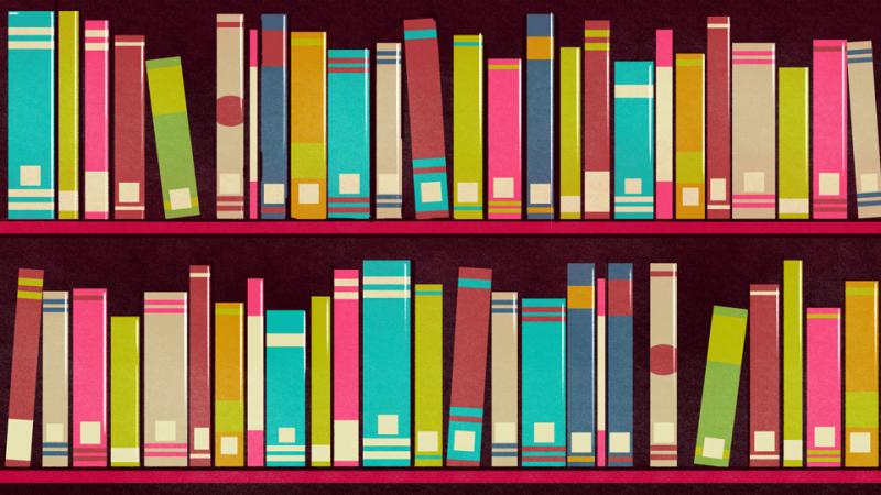 Hay un libro muy especial en esta biblioteca, ¿puedes encontrarlo?