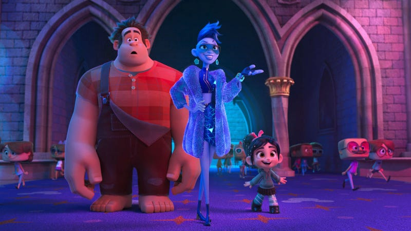 Ralph and Vanellope meet their internet guide, Yesss, in Ralph Breaks the Internet.
