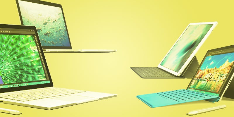 Illustration for article titled Microsoft Surface Book vs. MacBook Pro: A Head-to-Head Comparison
