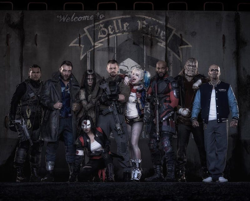 Illustration for article titled Behold The Suicide Squad In the Flesh, Including Harley Quinn
