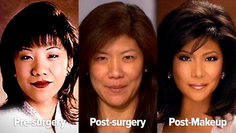 The unbelievable makeup transformation of CBS host Julie Chen