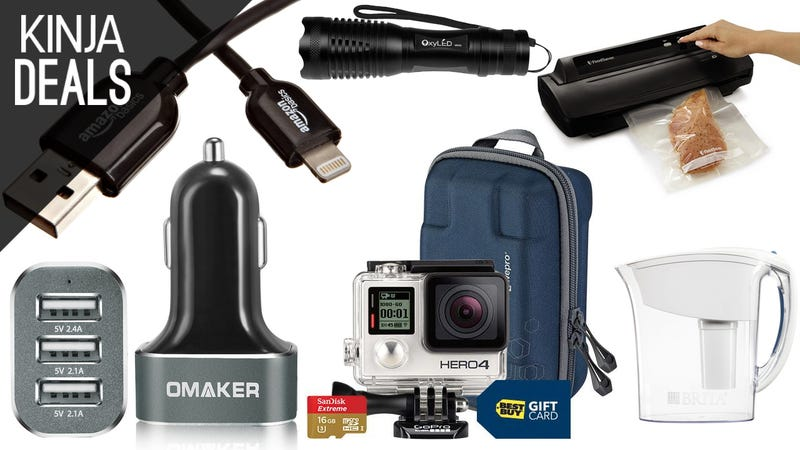Illustration for article titled Today's Best Deals: GoPro Silver, White Noise, Lightning Cable, & More